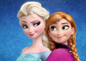 Anna and Elsa of Frozen