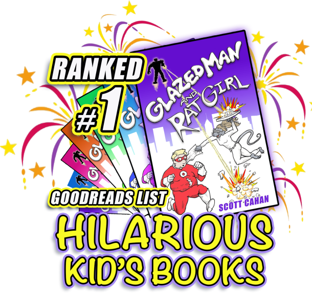 Glazed Man & Rat Girl were voted number one one the Hilarious Kids Book list