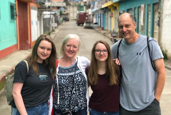 Scott Cahan and family in Guatemala on a mission trip.